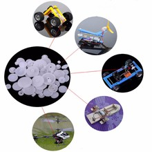 Buy 80Pcs Plastic DIY Robot Gear Set Single Double Layer Crown Shaft Axle Sleeve Set Rc Model for $3.99 in AliExpress store