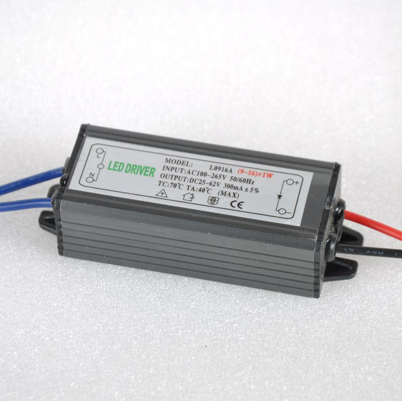 9-16W LED Driver Power Supply Waterproof IP67 Constant Current AC100-260V 300mA For 9-16W LED Bulb(China (Mainland))