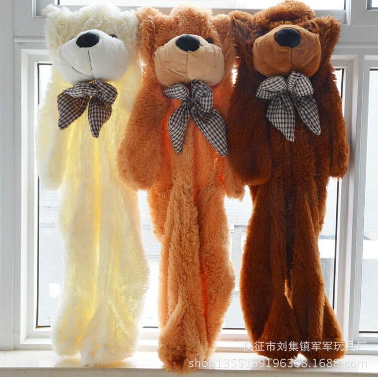 Free shipping 80cm small big pink unstuffed teddy bear skin shell skins purple animals kid baby plush toys girl gifts 2016(China (Mainland))