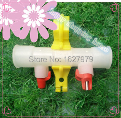 Poultry supplies duck with the ball with drinker fountains duck with double nipple water drinking device with S hook(China (Mainland))