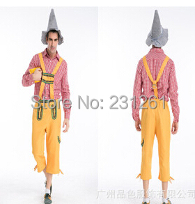 2014 Halloween masquerade Men's suspenders pants suit Oktoberfest farmer cosplay costumes H159926 - Professional Costumes Co.,Ltd store