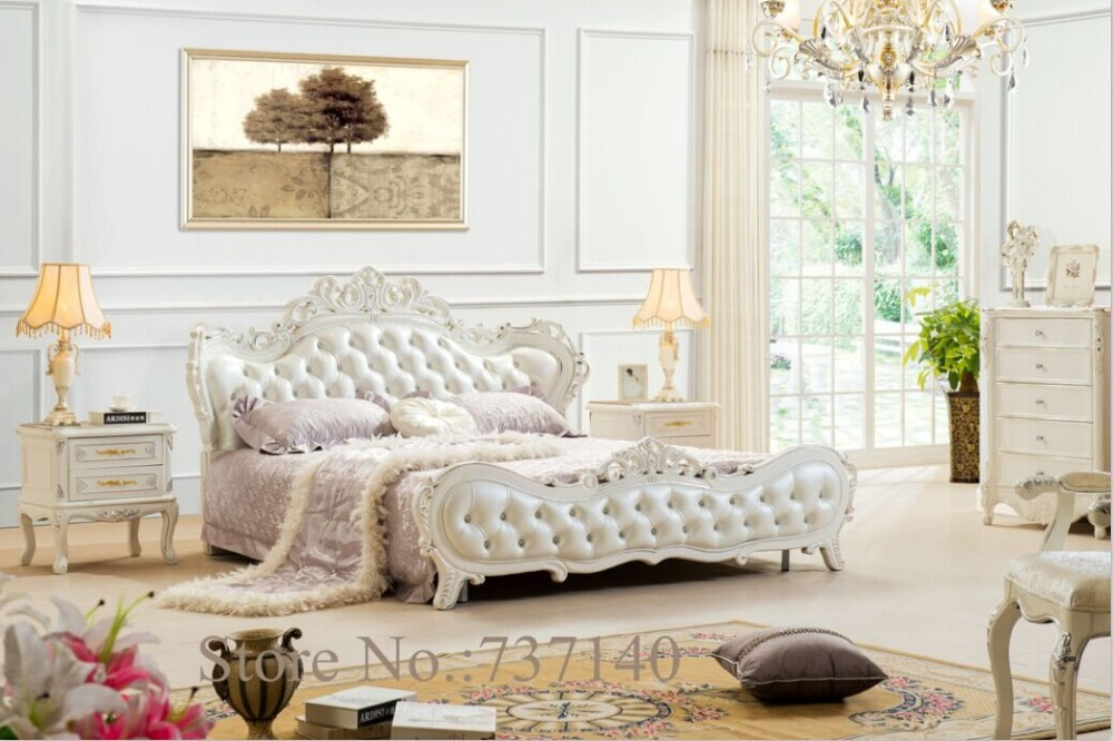 bedroom furniture Baroque Bedroom Set solid wood bed luxury bedroom furniture sets buying agent wholesale price(China (Mainland))