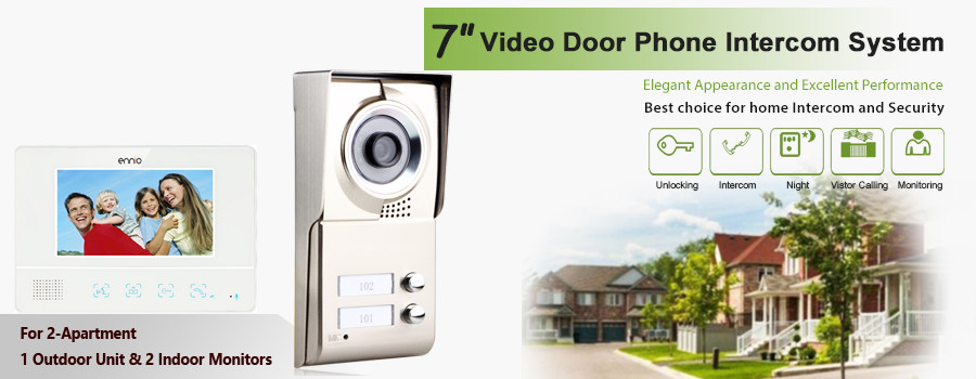 apartment 2 unit intercom entry system wired video door
