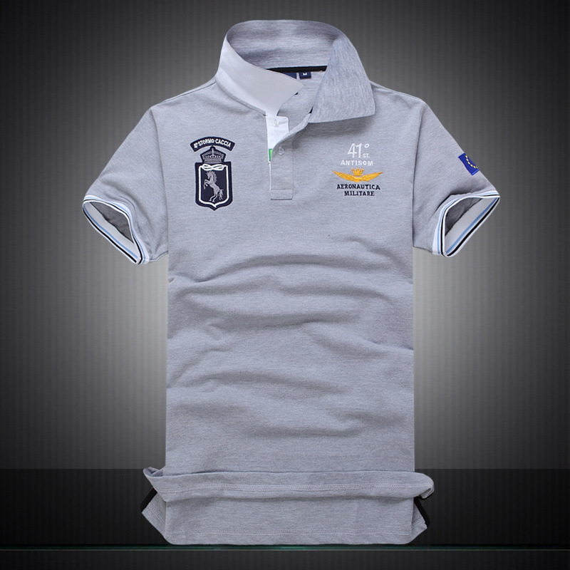 New fashion 100 cotton brand casual mens polo shirts for Polo shirts with embroidery