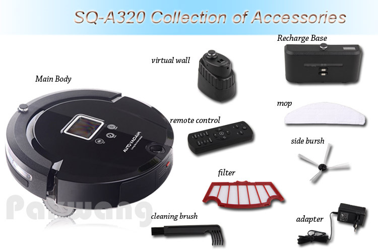 Intelligent Robot Vacuum Cleaner A320 for Home and Office, Automatic Vacuum Cleaner Vacuum Sweep Mop Sterilize 4 in 1 Vacuum(China (Mainland))