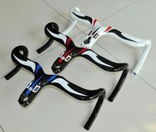 carbon bicycle handlebar carbon road bicycle handlebar carbon handlebar integrated with stem 28.6 * 400 420,440 mm