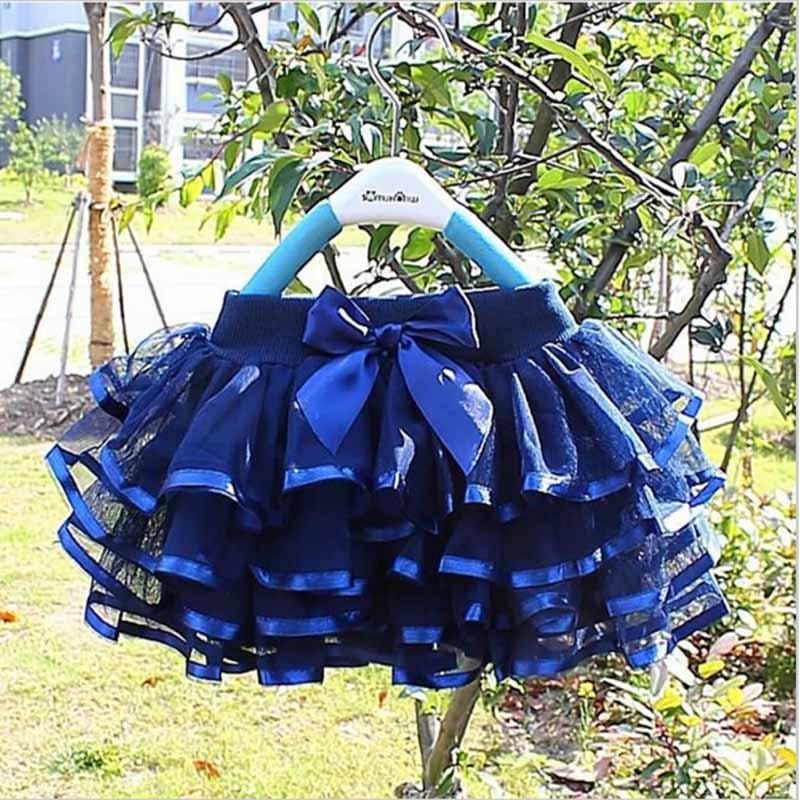 Girls tutu skirts baby ballerina skirt childrens chiffon fluffy pettiskirts kids Hallowmas casual candy color skirt(China (Mainland))
