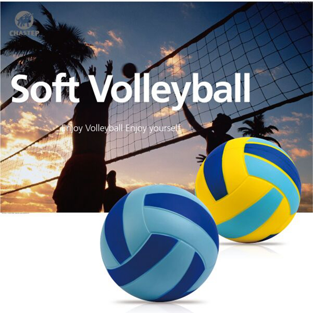 Outdoors & Indoors Sand Beach Volleyball Game Ball Thickened Soft PU Foam Volley Ball Match Training Volleyball Ball Size 4 20cm(China (Mainland))