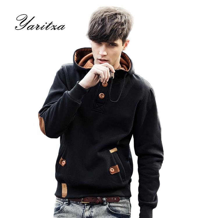 Free Shipping 2015 NEW brand sports hoodies men fleece Fashion men's warm Hoodies Sweatshirts, Suit Hoody jacket 5 colors(China (Mainland))