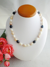 Sales Promotion !! 18'' HUGE AAA+ SOUTH SEA WHITE BAROQUE PEARL NECKLACE 14K W-1660(China (Mainland))