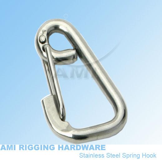 8*80mm, Asymmetrical snap hook stainless steel 316 stainless steel 316 wholesale marine hardware boat hardware, rigging hardware(China (Mainland))