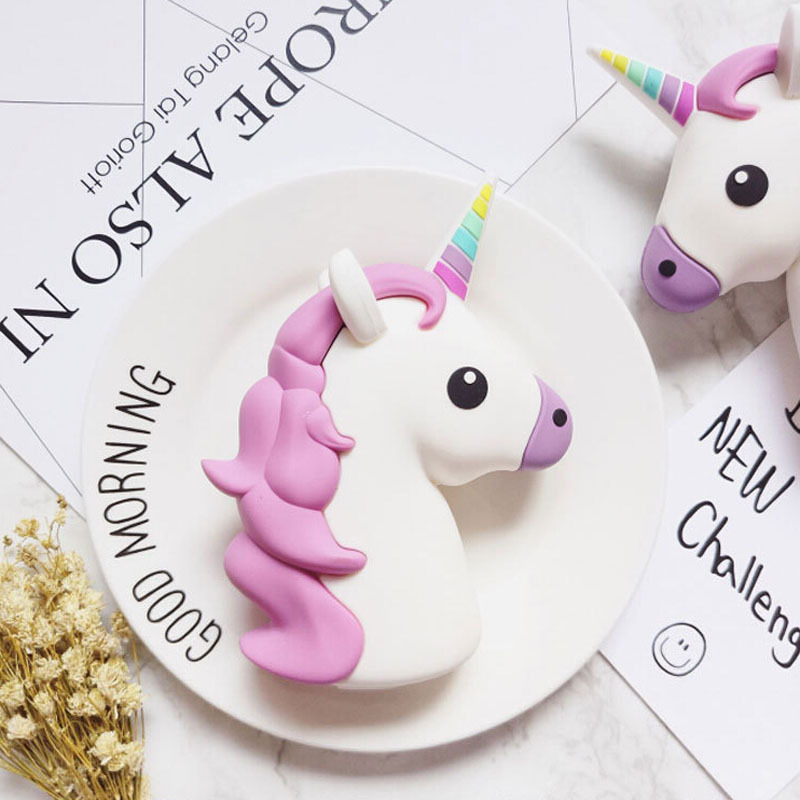 2016 New Portable Unicorn Power Bank 2600mAh Cartoon USB power battery Charger For Iphone 7 samsung note 7 xiaomi smart phones