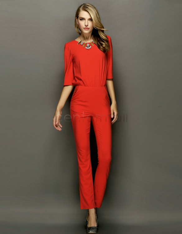 Red Jumpsuit Womens Photo Album - Reikian