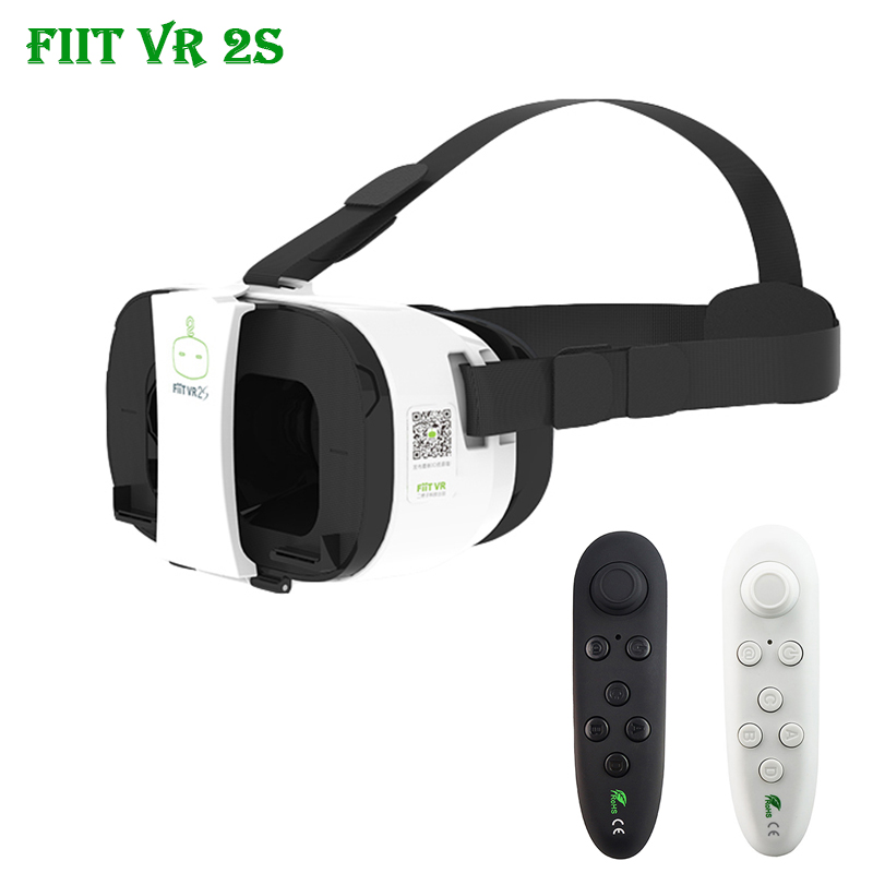 Fiit 2s vrbox 102 FOV 2 Models Virtual Reality 3D Glasses Google Cardboard VR Headset for 4'-6' Phone + Remote Controller(China (Mainland))