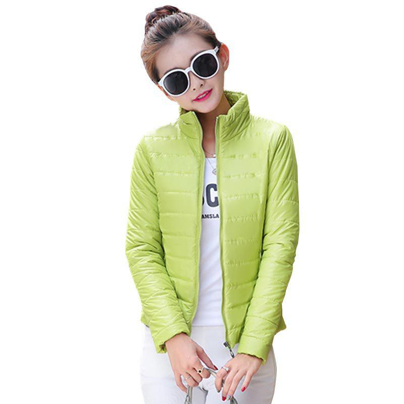 2015 новый новое женская спортивная куртка , чтобы согреться зимой хлопка-ватник шелк, Дамы мода свободного покроя тонкий мягкий зимняя куртка