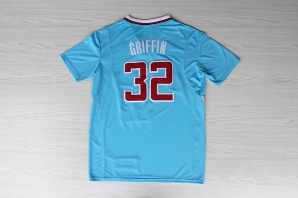Griffin #32 Breathable Blue Red White Basketball Jersey New Material Rev 30 &Shorts - Max's fashion store