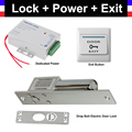 Drop Bolt Electric Mortise Door Lock Power Supply box Door Exit Button for Video doorbell Door