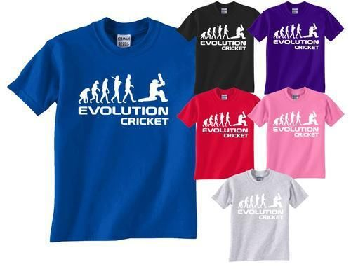 Cricket/Cricketer ~ Evolution Of~Mens/Ladies/Adult T-Shirt More Size and Colors(China (Mainland))