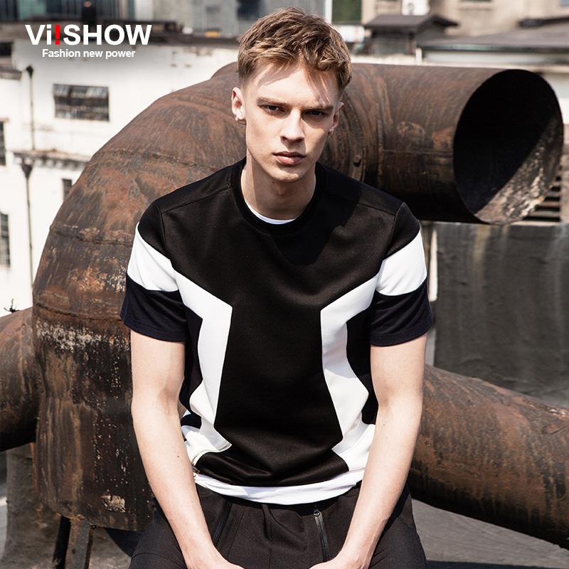 VIISHOW Hip Hop Mens T Shirt Patchwork Short Sleeve Tee Shirt Casual Basketball Zipper Design Short Sleeve T Shirt TD88662(China (Mainland))