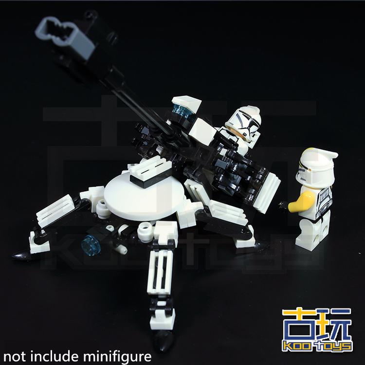 STAR WARS Clone WAR Soldiers Battery Commander Darth Vader Minifigures DIY Yoda Model Building Blocks Toys Compatible LEGO - Domino's store