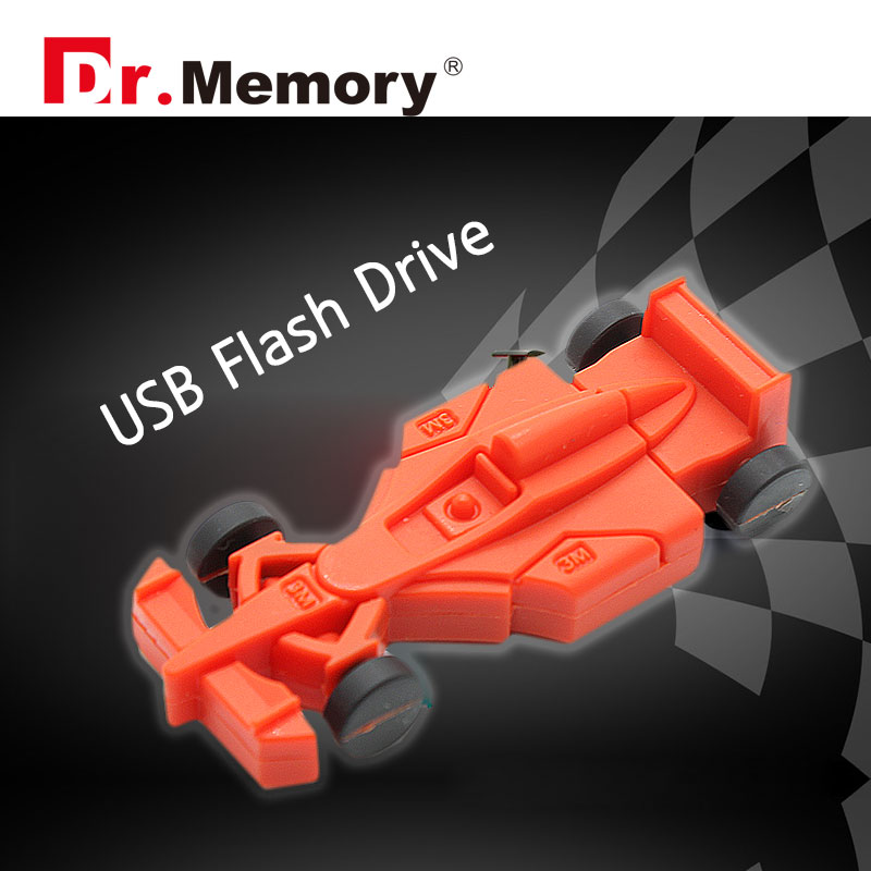 Racing Car USB Flash Drive F1 Car Model Pendrive 4gb 8gb 16gb 32gb Creative Boy's Gift Genuine Capacity Free Shipping Automobile(China (Mainland))