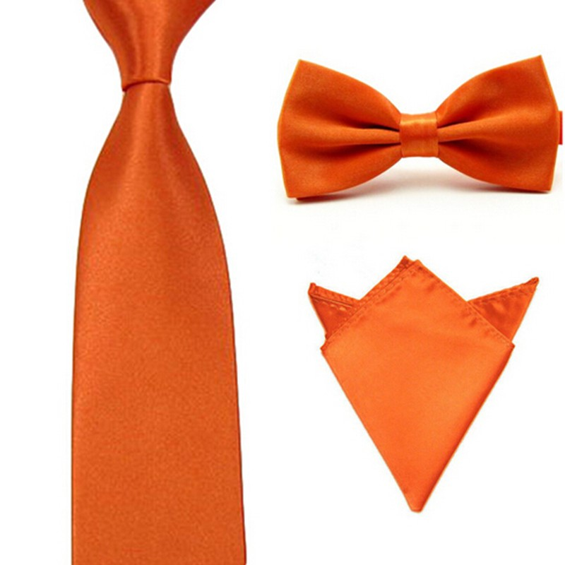 New 3 PCS/set Man's Polyester Silk Bowtie and Pocket Square Groom's Wedding Suits Business Necktie Hot Sale BT16428