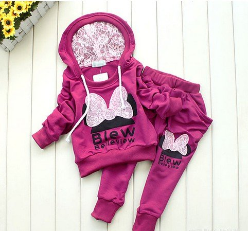 3colors kids sport wear Baby Clothing Set girls sport suit Baby Clothes Baby Garment Sport Suit Fashion Butterfly Set(China (Mainland))