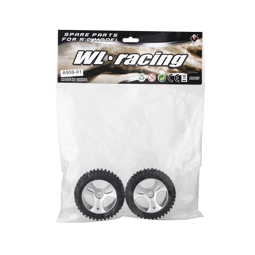 In Stock 2 Pcs High Quality Original Wltoys A959 RC Car Tire for 1/18 Remote Control Cars RC Toys Replacement Parts(China (Mainland))