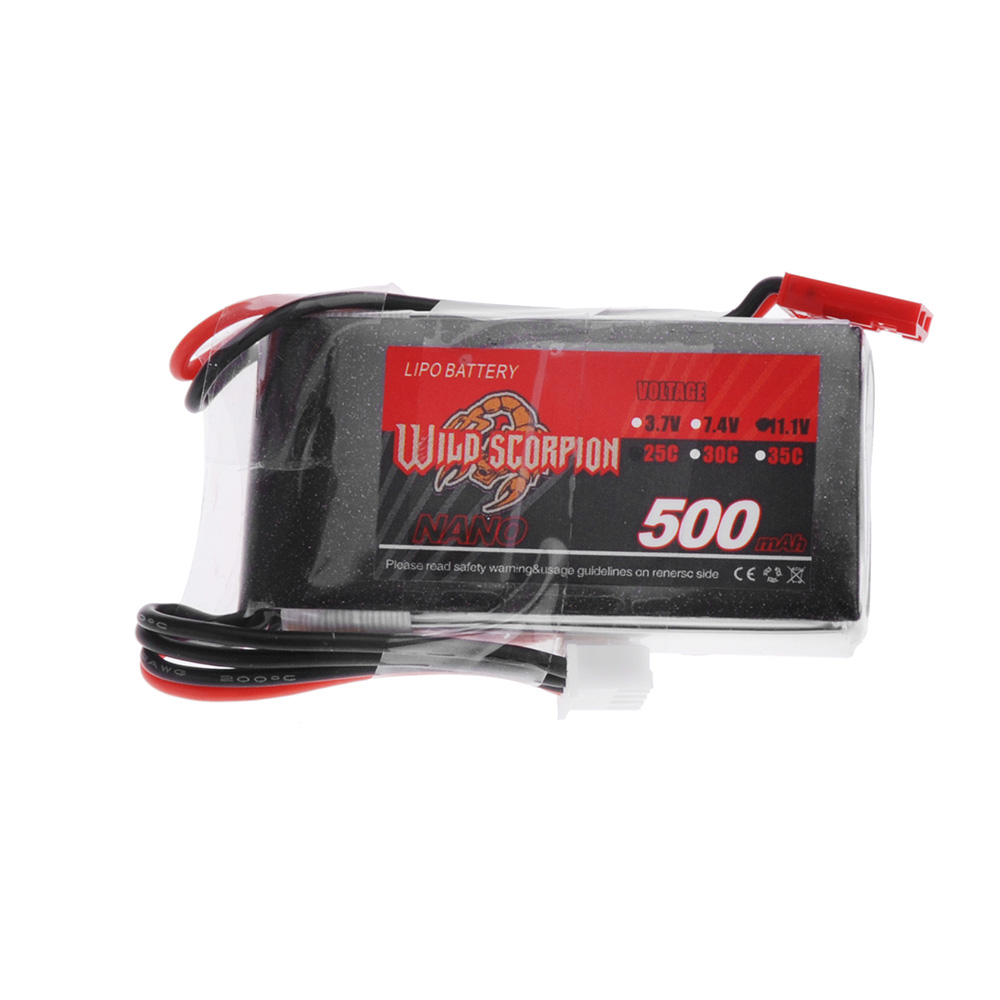 Wild Scorpion 11.1V 500mAh 25C MAX 35C 3S JST Plug Li-po Battery for RC Car Airplane Blade CX Helicopter Part(China (Mainland))