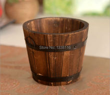 Free shipping High Quality Flower vase wooden barrel  vase home decoration Receiver Flower Set(China (Mainland))