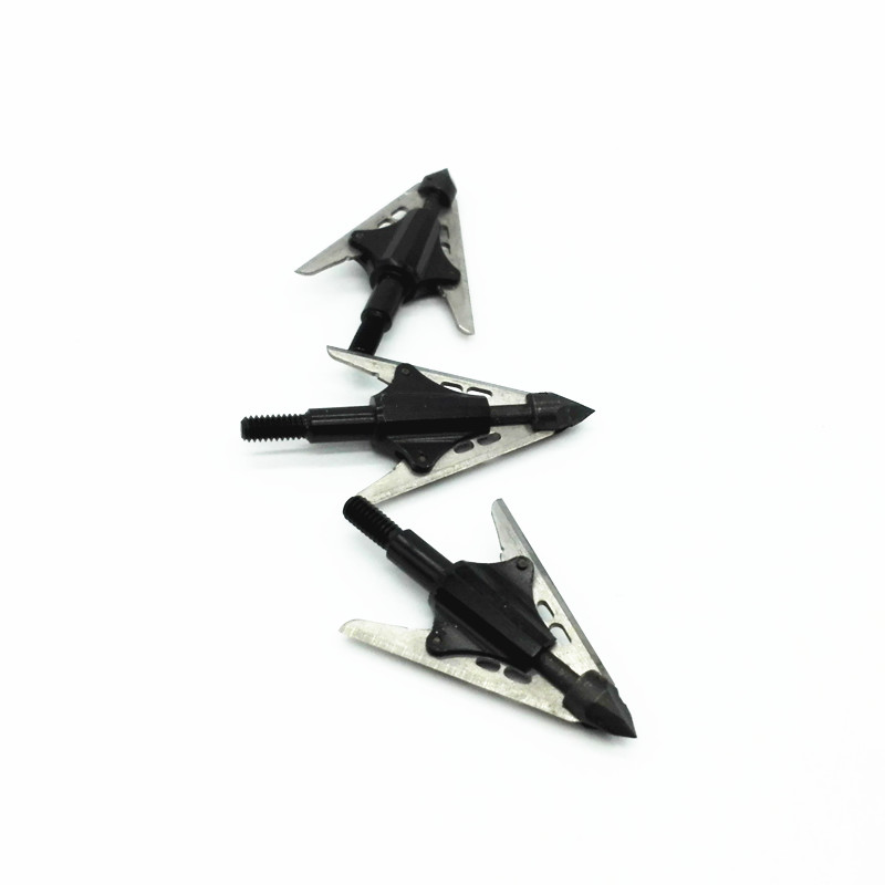 3PCS compound bow hunting arrow broadhead rotary arrow tip expandable blades 2 sharpest broadheads RJ021