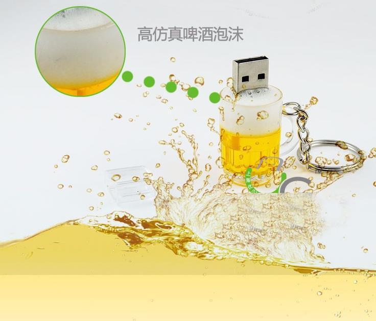 Beer Bottle Model USB 2.0 USB Flash Drive 64gb Pendrive Memory Storage Sticker USB Stick Pen Drive 32gb 16gb 8gb 4gb U disk(China (Mainland))