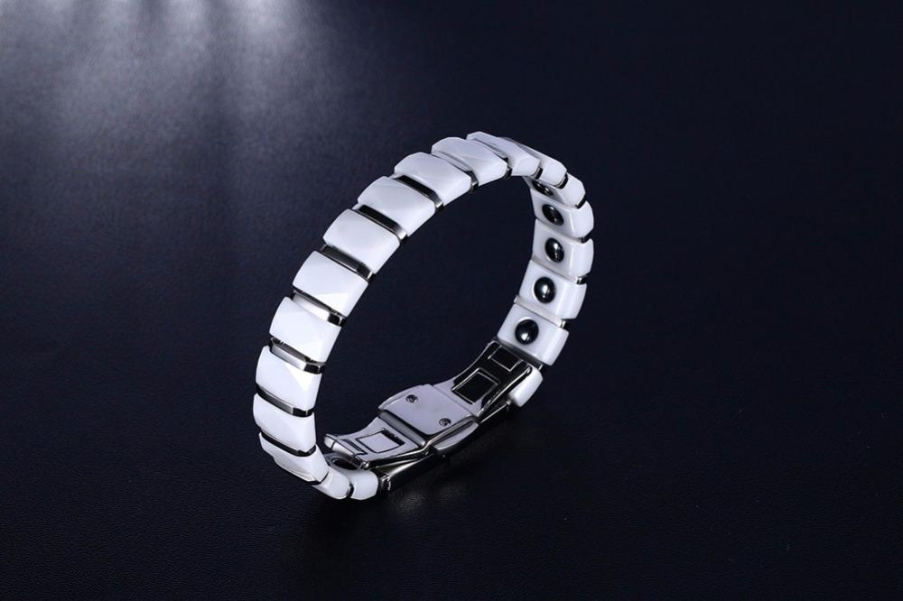 Men bracelet Magnetic Healthy Jewelry White 17