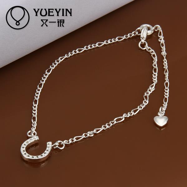 Fashion silver plated Anklets for Women Bridal Party Wedding jewelry Wholesale Cheap barefoot sandals(China (Mainland))