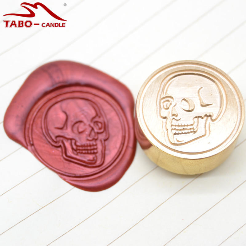 specially made unique wax seal stamp with skull logo design sealing stamp for individual letter decoration