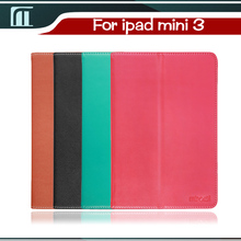 New black brown pink green color Luxury Slim Magnetic PU Leather Smart Cover Sleep Case For iPad mini 3 Retina Book Dormacy(China (Mainland))
