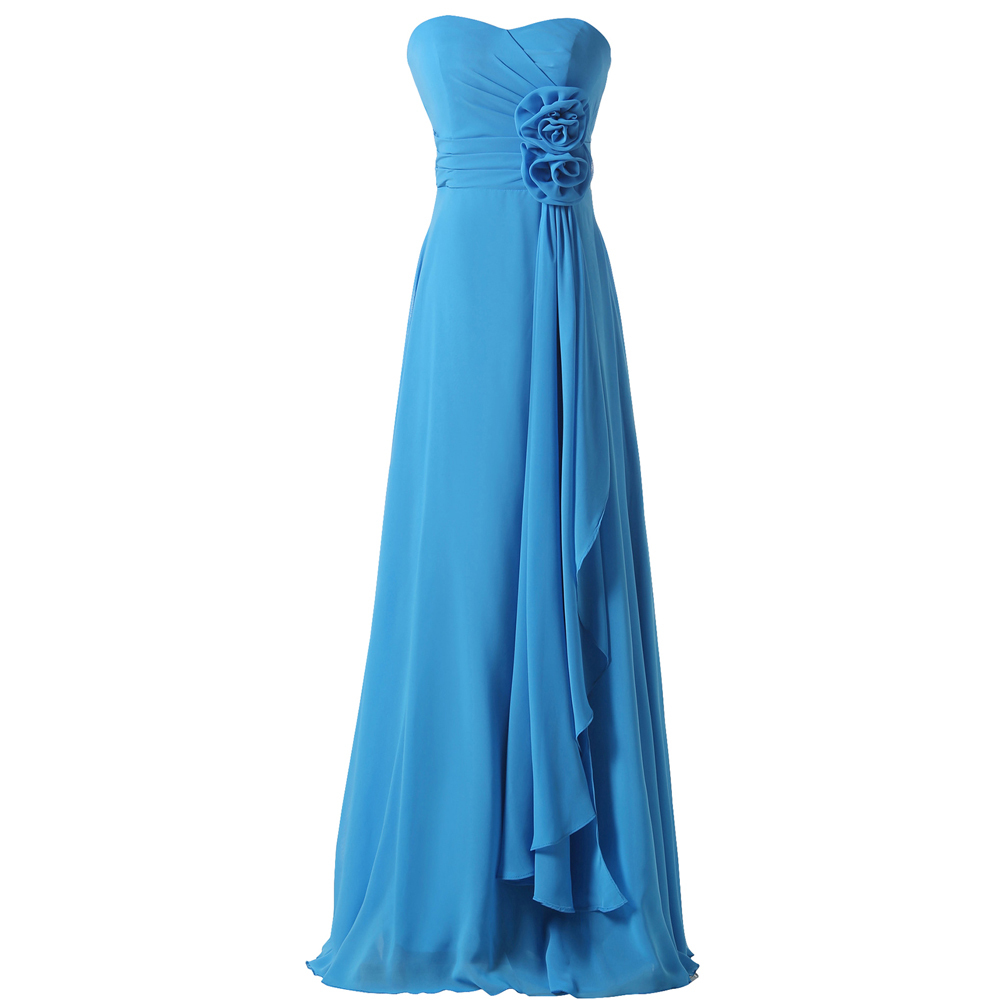 Stock off the shoulder empire floor length wedding guest for Mid length dresses for wedding guests