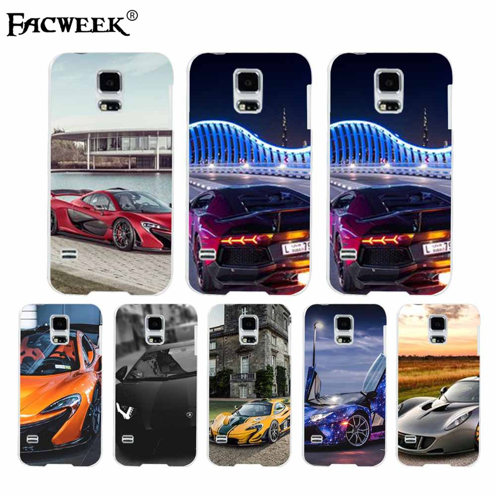 Transparent luxury cell phone case coque for Samsung Galaxy S5 I9600 super sport car back cover silicone plastic soft/hard shell(China (Mainland))