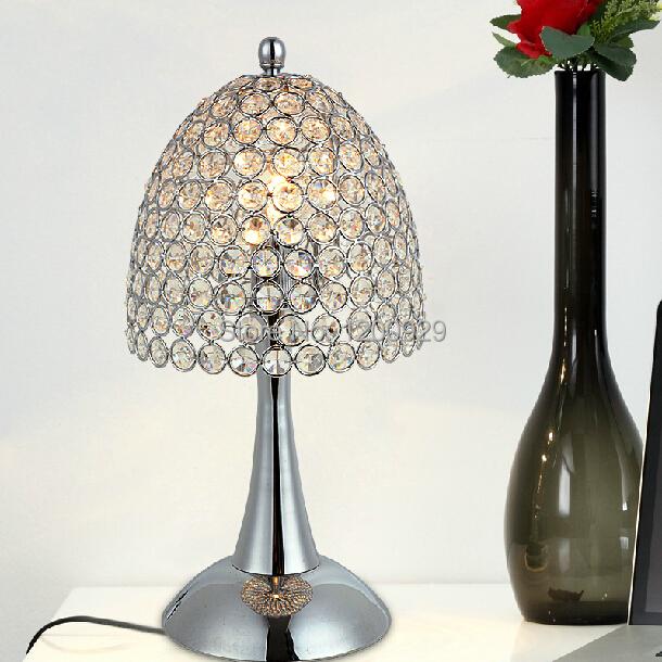 K9 Crystal Glass Mushroom Modern Table Lamp Living Room/Bedroom Decoration Creative Lighting Free Shipping Hot Selling TLL-12(China (Mainland))