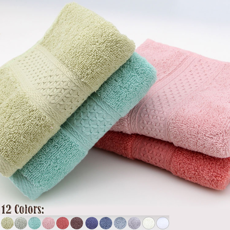International trade best selling NO.1 100% cotton Authentic Solid cute Candy colors baby towel Infant kitchen bathroom special(China (Mainland))