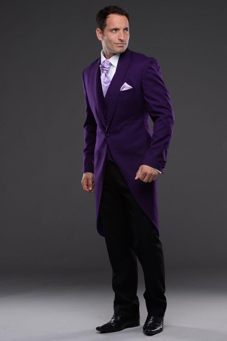 High Quality Black Suit Purple Tie Promotion-Shop for High Quality ...