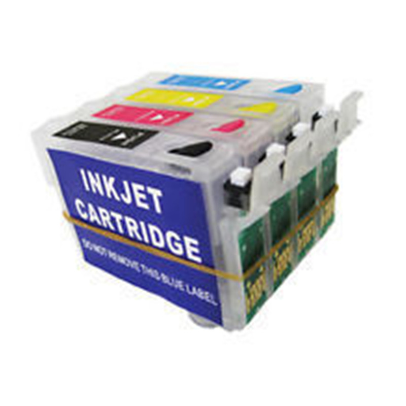 5 sets 20 pcs T1321 T1322 T1323 T1324 empty Refillable ink cartridges for Epson T22 TX120 N11 NX125  printer<br><br>Aliexpress