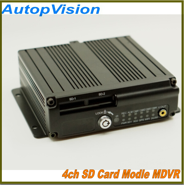 DHL free shipping 4ch mobile dvr Support 64GB micro sd card 3G WIFI GPS G-sensor CMS free client software(China (Mainland))
