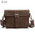 SMIRNOFF 2017 Summer Leisure Handbag College Student Boys Messenger Bag School Luxury Brand Genuine Leather Book