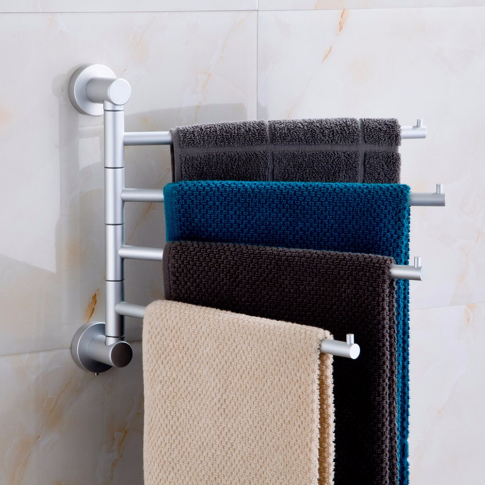 popular towel bar swivelbuy cheap towel bar swivel lots from  - simple unique four arm swivel towel bar bathroom towel holder aluminum tier towelbar towel rack