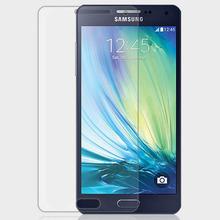 0.3 мм закаленное стекло для Samsung Galaxy A3 3 2.5d дуги край Explostion Fingher печать фильм с чистой инструменты