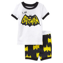 2015 Cotton Hero Spider Batman Boys Girls Kids Nightwear Sleepwear