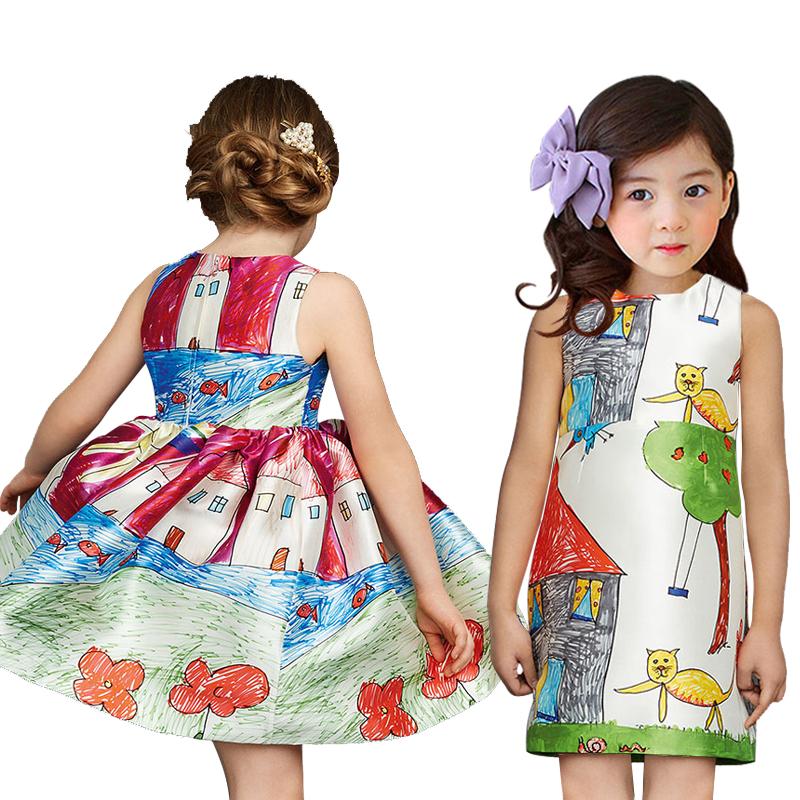 2016 New girl dress brand kids clothes spring autumn children clothing newest fashion girls clothes long sleeve babi girls dress(China (Mainland))