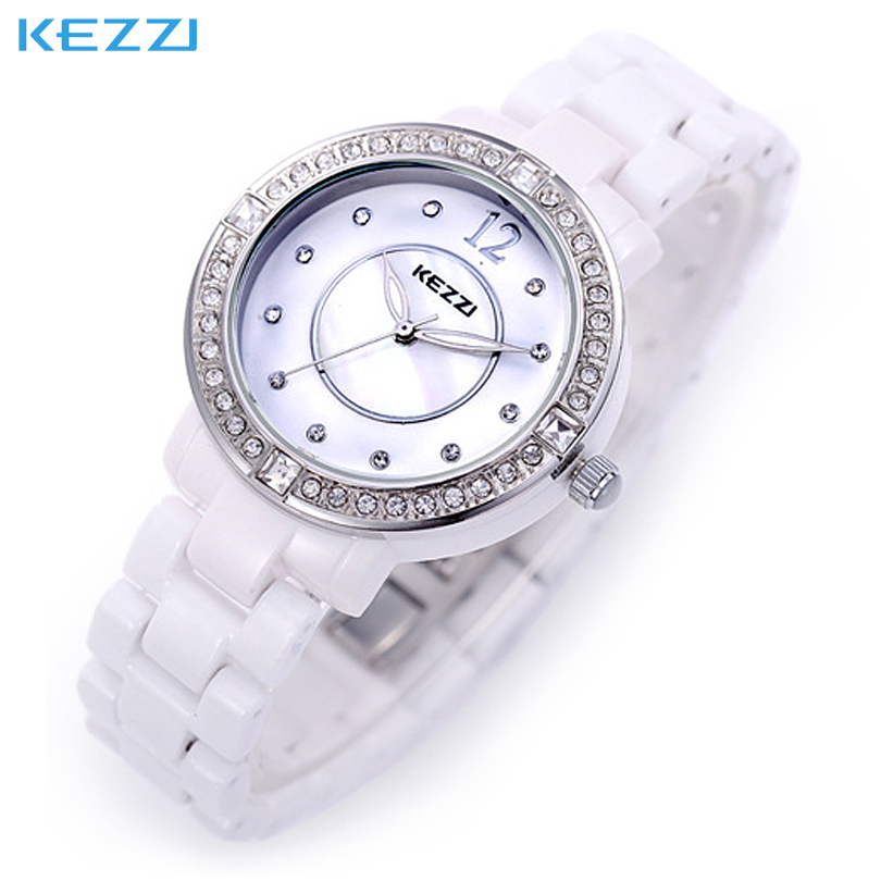 Fashion Brand KEZZI Watch women bracelet watch Women Dress Watches Colored rhinestone ceramic bracelet casual Wristwatches<br><br>Aliexpress