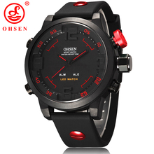 New Fashion OHSEN Led Digital Watch Analog Quartz Watch Sports Watches Men Waterproof Relogio Masculino Casual wristwatches AS20(China (Mainland))
